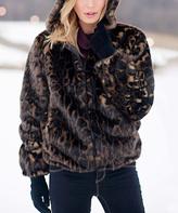 Dark Leopard Hooded Parka