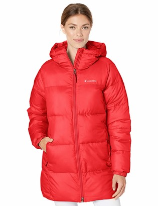 Columbia Womens Puffect Mid Hooded Winter Jacket Water Repellent