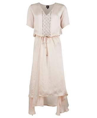 Nu Denmark Embellished Drawstring Waist Dress Colour: ROSE, Size: LARG