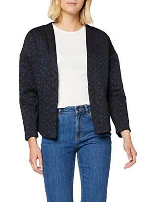 Scotch & Soda Maison Women's Sweat Blazer in Animal Lurex Jacquard Pattern Suit Jacket,12 (Size: Medium)