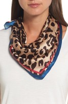 Halogen Women's Runaway Kitty Silk Square Scarf
