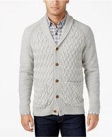 Tasso Elba Men's Textured Shawl-Collar Cardigan, Only at Macy's