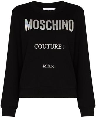 Moschino Couture logo-print swearshirt