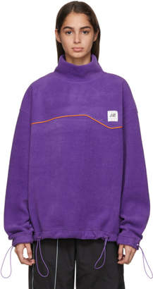 ADER error Purple Fleece Turtleneck