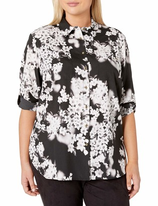 Calvin Klein Women's Plus Size Roll Sleeve Tunic