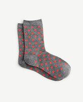 Ann Taylor Vibrant Polka Dot Trouser Socks