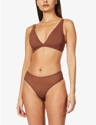 SKIMS Ladies Brown Kim Kardashian West Naked Plunge Bra, Size: XXS