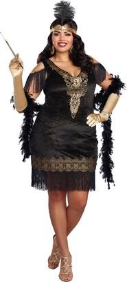 Dreamgirl Women's Plus Size Swanky Flapper