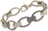 EFFY COLLECTION Sterling Silver & 18Kt. Yellow Gold Link Bracelet with Diamond Accents
