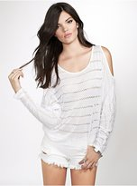 GUESS Knit Cold-Shoulder Top