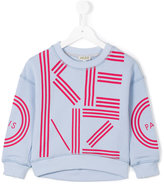 Kenzo logo print sweatshirt - kids - Cotton - 4 yrs