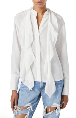 Frame Marguerite Long Sleeve Silk Blouse