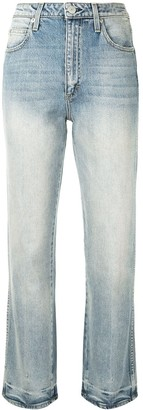 Amo Bella cropped mid-rise straight-leg jeans