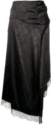 Preen by Thornton Bregazzi Floral-Jacquard Asymmetric Skirt
