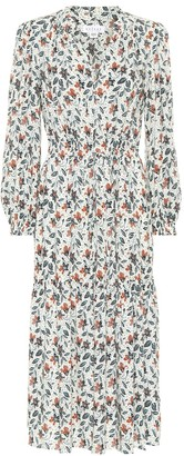 Velvet Tweetie floral midi dress