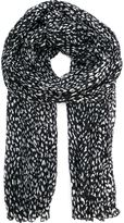 Saint Laurent blotchy print scarf - women - Silk/Wool - One Size