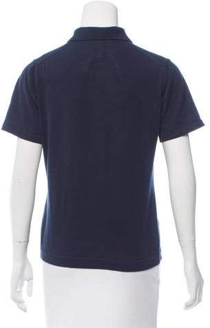 Malo Collared Short Sleeve Top