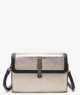 Sole Society Women's Nata Crossbody Vegan Bag Pewter Combo Vegan Leather From