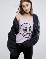 Cheap Monday Skull Crop Tank