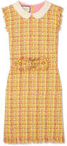 Gucci Frayed Tweed Mini Dress - Yellow