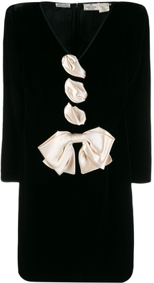 Valentino Pre-Owned structured shoulders mini dress