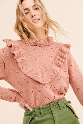 Glamorous Ruffle High Neck Pullover