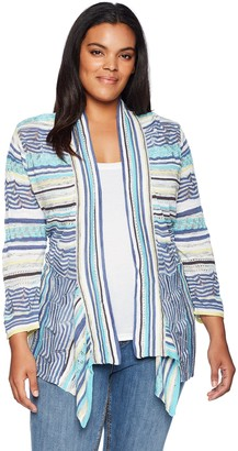Nic+Zoe Women's Size Plus Good Vibe Cardy