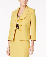 Kasper Petite Three-Button Shawl-Collar Blazer