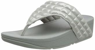 FitFlop Women's Lulu Padded Shimmy Suede Toe-Thongs Open Sandals