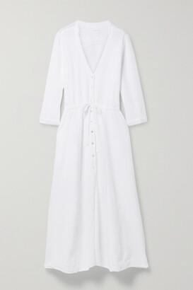 HONORINE Georgia Cotton-seersucker Midi Dress - White