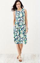 J. Jill Floral Angled-Hem Dress