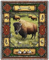 Pure Country Buffalo Lodge Woven Throw Blanket