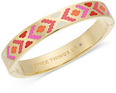 Kate Spade Gold-Tone Cubic Zirconia & Colored Enamel Hinged Bangle Bracelet