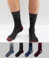 Jack and Jones Socks 4 Pack With Stars