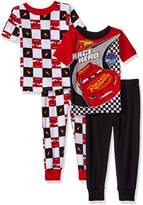 Disney Toddler Boys' Cars 4-Piece Cotton Pajama Set