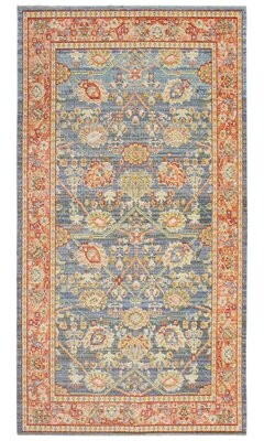 """French Connection Lippert Colorwashed Red/Blue Area Rug Rug Size: Rectangle 3' x 5'1"""""""