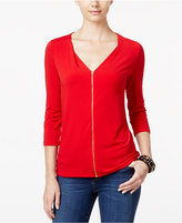 INC International Concepts Zip-Front Top, Only at Macy's