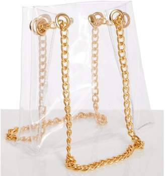 Quiz Clear Gold Chain Tote Bag