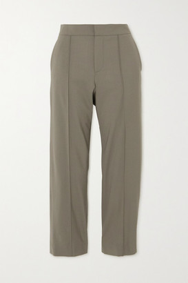 GAUCHERE Romea Cropped Wool-blend Slim-fit Pants - Beige