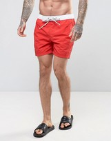 Tommy Hilfiger THD Contrast Swim Shorts In Red