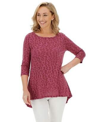 Marisota Dusty Pink Burnout 3/4 Sleeve Top