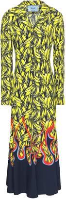 Prada Printed Twill Midi Shirt Dress