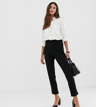 Asos DESIGN Tall pull on tapered black pant in jersey crepe