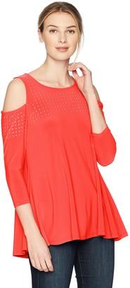 Chaus Women's Cold Shoulder Embellished Top