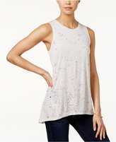 Calvin Klein Jeans Splatter-Print Sleeveless Top