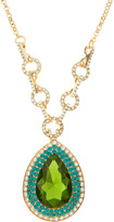 Greenbeads Pear-Cut Crystal Necklace, Green