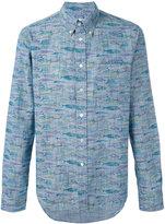 Bellerose fish print button down shirt - men - Cotton - XXL