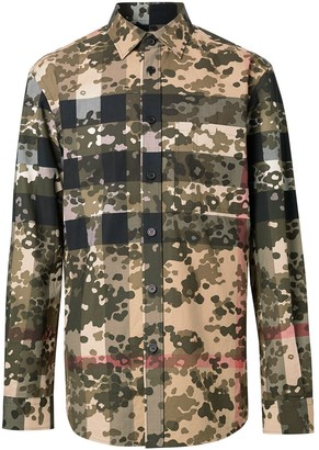 Burberry Camouflage Check poplin shirt