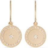 Andrea Fohrman Phases Of The Moon 18-karat Gold Diamond Earrings - one size