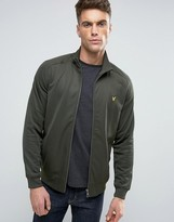 Lyle & Scott Tricot Funnel Jacket Eagle Logo In Green